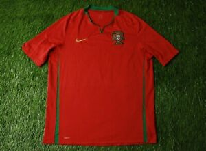 PORTUGAL NATIONAL TEAM 2008/2010 FOOTBALL SHIRT JERSEY HOME NIKE ORIGINAL SIZE L
