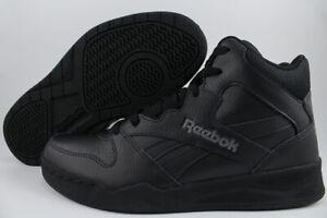 REEBOK ROYAL BB4500 H2 HIGH HI WIDE E BLACK/GRAY CLASSIC BASKETBALL LEATHER MENS