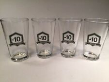 Set of 4 Think Geek Role Playing Game Rpg Stats Pint Drinking Glasses 16 ounces