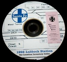 Atchison Topeka & Santa Fe 1992 Lubbock Texas NO.9 CLIC Book  PDF Pages on DVD