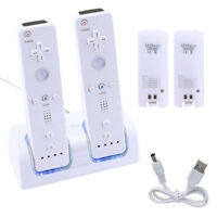 Rechargeable Battery Packs & Dual Charger Charging Dock Suits For Wii Remote BP