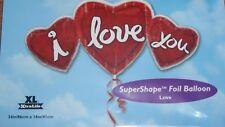 """34"""" Pellicola Super Forma Palloncino 3 Cuore I Love You-Compleanno San Valentino Mamme"""
