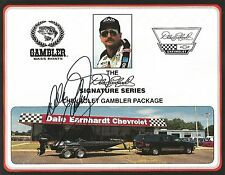 Dale Earnhardt Sr. Signed GM GOODWRENCH SERVICE PLUS 8.5x11 Postcard Photo #7