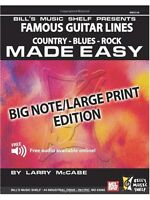 Famous Guitar Lines Made Easy Big Note Large Print Edition Present MUSIC BOOK