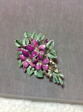 Vintage  Signed Exquisite Birthday Brooch Some Wear