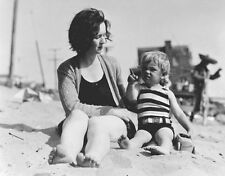 Marilyn Monroe, Norma on the beach as a toddler with her mother Gladys  14 x 11""