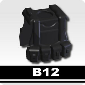 Black B12 Tactical Vest for LEGO army military brick minifigures