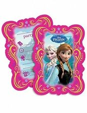 Disney Frozen 6 Carte D'invitation pour Fête Girl's Anniversaire Film Robe