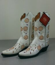 Womens Luchesse 1883 Embroidered Pepper Flower White blue orange red  Size 8.5B