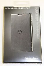New Genuine OEM Blackberry Passport Napa Leather Flip Case ACC-59524-001 - Black