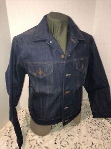 Wrangler Vintage Trucker Denim Jacket NOS Sz 40 All Cotton