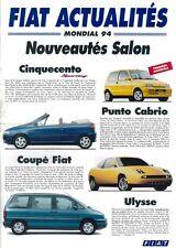 FIAT ACTUALITES MONDIAL 94 CATALOGUE COMMERCIAL