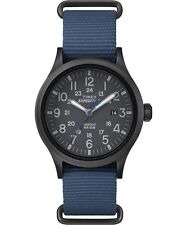"Timex TW4B04800, Men's ""Expedition"" Blue Nylon Watch, Scout, Indiglo"