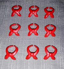 Playmobil pañuelo rojo × 9 Piezas, Accesorios Soldado vaquero occidental, a estrenar
