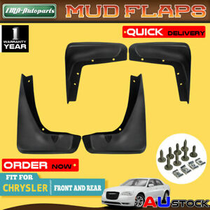 4x Mud Flaps Splash Guards Mudflaps for Chrysler 300C Sedan All Engine 2013-2016