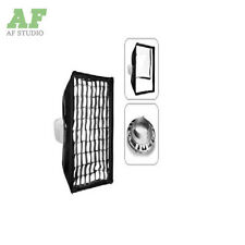 Photo Studio 22x 90cm Strip Softbox Grid Honeycomb Bowens Mount for Strobe Flash