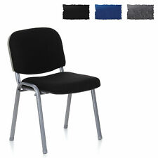 Conference Chair Stackable Waiting Visitor Chair Black Silver XT 600 hjh OFFICE
