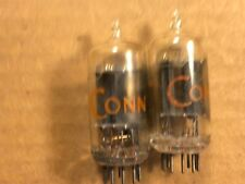 Matched Pair RCA 12AU7 Tubes 1960 Clear Tops Test Strong Balanced #J
