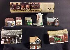 Wade England 1980's Porcelain Miniature Village Whimsey On Why Set #2