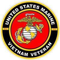 UNITED STATES Marine Corp Vietnam Veteran  Decal Window Bumper Sticker