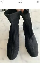 Robert Clergerie Black Suede Ankle Boot - Size 37