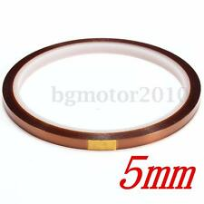 5mm X 100ft / 33m Tape BGA High Temperature Heat Resistant Polyimide Gold