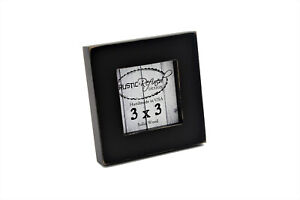 "3x3 square gallery wood picture frame, 1"" boarder for wall or table top display"