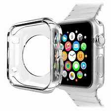 Slim Thin Transparent Soft TPU Case Gel Cover For Apple Watch iWatch 42MM