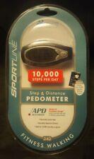 Sportline Step & Distance Pedometer fitness walking w/walking program