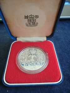 1977 STERLING SILVER JUBILEE CROWN WITH ORIGINAL BOX