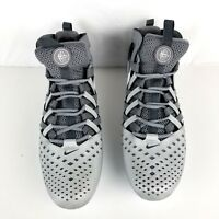 Nike Huarache V LAX Lacrosse Football Cleats Grey Shoes Mens SZ 15 807142 010