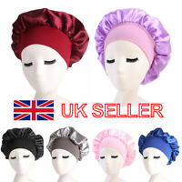 Long Hair Care Women Satin Bonnet Sleep Hat Cap Night Caps Silk feel Head Wraps