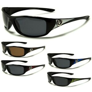 Nitrogen Mens Polarized Sunglasses - Wrap Around Frame - Driving Cycling Fishing
