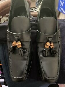 Gucci Men's Black leather shoes, Size 42 made in Italy