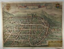 Original Copper Engraved Map of Italy - RIPULAE VULGO RIVOLI by Bleau in 1682