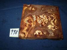 Rüster Maser Ulmenmaser Schmuckholz  Edelholz  125 x 125 x 15 mm    Nr. 991