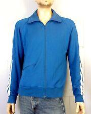vtg 70s Fair Play by Sarna Blue Striped Full Zip Track Jacket Indie Punk sz L
