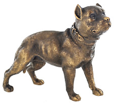 More details for 18cm pit bull terrier ornament figurine decoration bronze effect dog lover gift