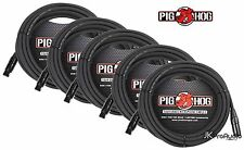 5 PACK Pig Hog 8mm Mic Cable, 30' foot XLR to XLR w/ LIFETIME Warranty PHM30