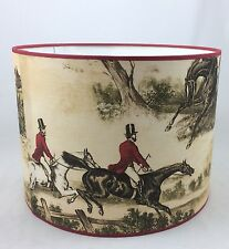 "16"" Lampshade Handmade in UK - Lewis & Wood Hunting Scene Fabric"