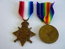 WW1 14-15 Star & Vic Med Durham L.I
