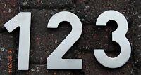 "Hafele 3 4 6 7 8 a b Raised  4 3/4"" Stainless Steel Address Numbers Floating"