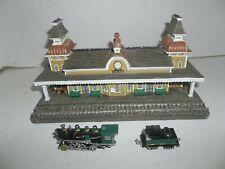the danbury mint north conway railroad station train depot figurine