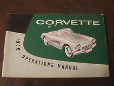 1960 Corvette Factory GM Owners Manual First Edition Part # 3770472 W/ Full Card