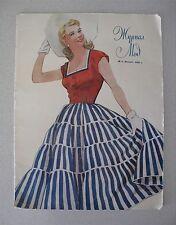 Russian Soviet Fashion Magazine Moscow 1955 Журнал Мод