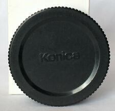 Genuine Konica rear lens cap for Hexanon lenses.