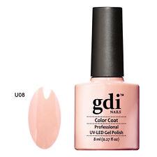 GDI NAILS - U08 PEACHY PINK - SUBTLE NUDE - UV LED GEL NAIL POLISH VARNISH