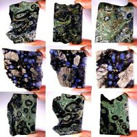 KAMBABA JASPER AND MATRIX ON TANZANITE SLABS ROCK POLISHED ROUGH SPECIMEN PS30