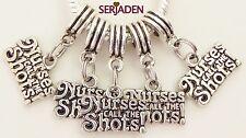 5 Nurses Call The Shots Dangle Charm 15 * 25  5mm Hole Fit European Jewelry S232