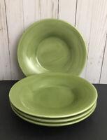 Pottery Barn Sausalito Green Bowls Soup Or Salad Set of FOUR - 4